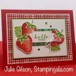 Greeting card created with Stampin