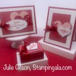 Greeting cards & treat holder created for Facebook Live using Stampin