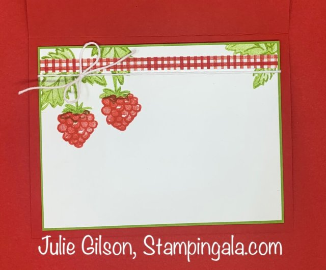 Greeting Cards and Gift Bag created with Stampin' Up's Berry Blessings Stamp Set. #Stampin' Up, #Stampin' Gala, #Birthday Card, #Treat Holder, #Thank you Card, #Handmade Cards