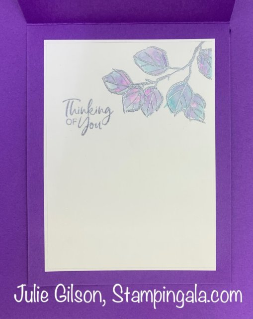 Greeting Card created with the A Touch of Ink Stamp Set.  #Stampin' Up!, #Stampin' Gala, #Sympathy Card, #Thinking of You Card, #Handmade Card, #Heat Embossing, #Water Coloring, #Sale-a-Bration