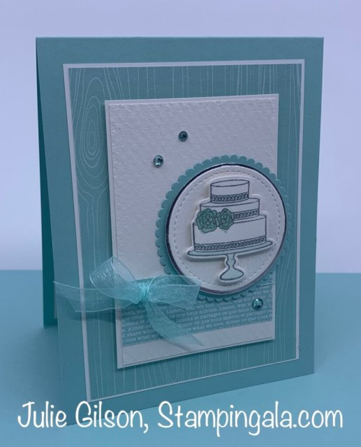 Congratulation Card made with the Prettiest Birthday Bundle.  #Stampin' Up, #Stampin' Gala, #Wedding, #Birthday, #Congratulations, #Handmade Cards