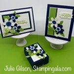Greeting cards and hand sanitizer holder created with Stampin