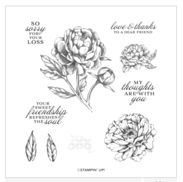 Greeting card created with the Prized Peony bundle.  #Stampin' Up, #Stampin' Gala, #Birthday card, #Handmade card