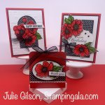 Greeting cards and teabag holder featuring the True Love Designer Series Paper. #Stampin