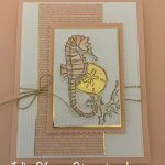 Greeting card created with the Seaside Notions stamp set. #Stampin