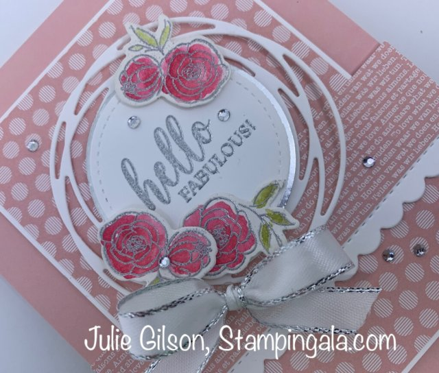 Greeting Card created with Stampin' Up's Dressed to Impress Bundle. #Stampin' Gala, #Julie Gilson, #Birthday, #Handmade cards