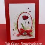 Greeting card created with the Painted Poppies stamp set and Painted Labels Dies. #Stampin