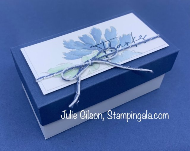 Greeting cards & box created with Stampin' Up's Hand-Penned Petals Bundle. #Stampin' Gala, #Julie Gilson, #Water color, #Handmade cards.