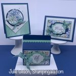 Greeting cards and gable box created with Stampin