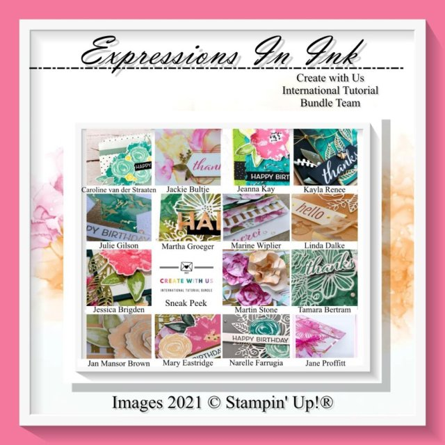 Create 15 cards with this step-by-step PDF Tutorial designed with Stampin' Up'! Artistically Inked Bundle. #Stampin Gala, #Julie Gilson, #Expressions in Ink, #Handmade cards