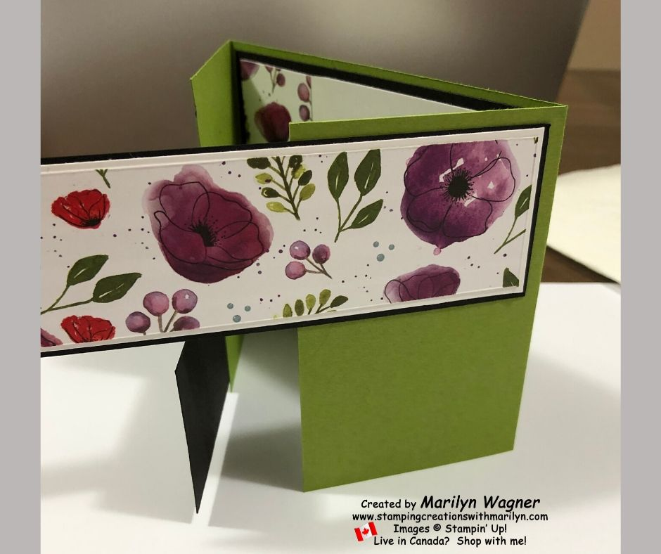 Gatefold Card with Poppy DSP