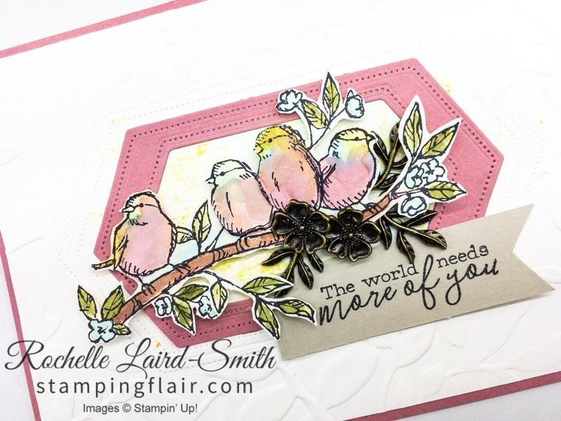 Vintage Bird Ballad elements to decorate handmade card
