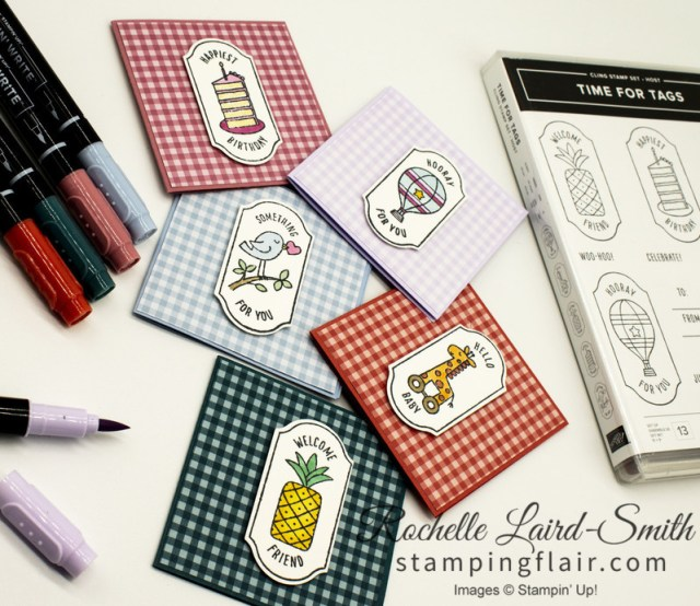 Gift cards using Time for Tags stamp set