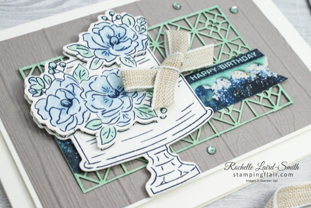 Birthday Cake Card with Laser Cut Background