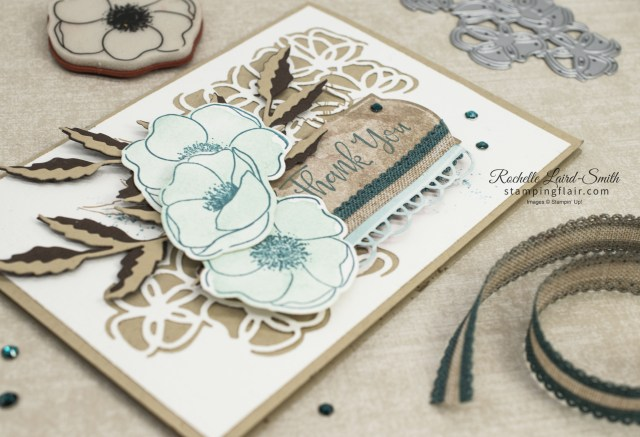 Soft blue poppies thank you card