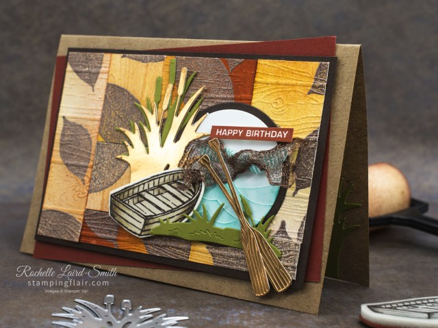 Stampin' Up! Catch of the Day stamp set with canoe
