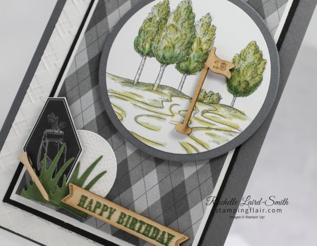 Golf themed handmade card colouring in with Stampin' Blends