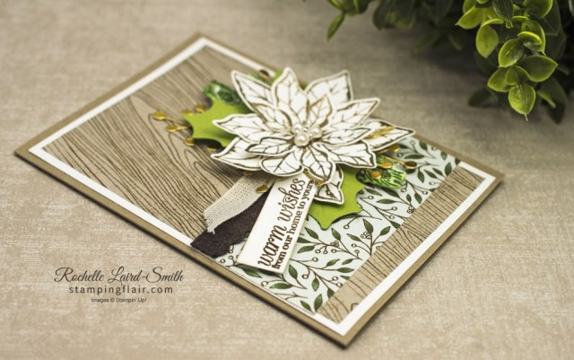 Poinsettia Christmas card with Poinsetta Place suite from 2020 Holiday Catalogue