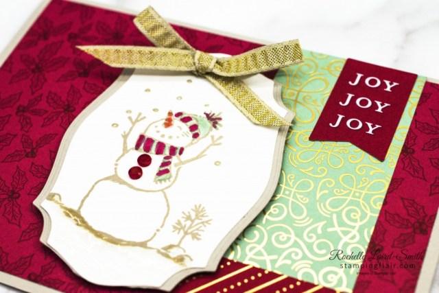Snowman Season Stamp Set, Tis the Season DSP, Christmas Card with snowman, #30daychristmascardmakingchallenge