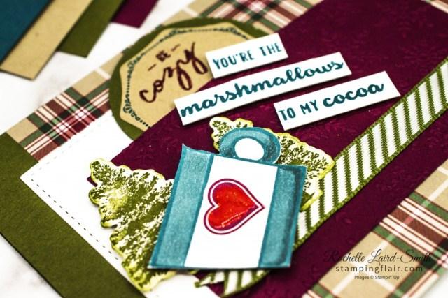 #30daychristmascardmakingchallenge, Warm Hugs Bundle, Stampin' Up!, Press On Stamp set, Plaid Tidings DSP