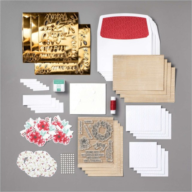 oy to the World Paper pumpkin Kit, Contents of Joy to the World Paper Pumpkin Kit