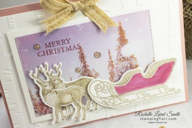 Stampers Showcase Blog Hop, November 2020, Winter, Holidays, Winter Wonderland, Wishes & Wonder Bundle, Feels Like Frost DSP, Stampin' Up!, SU, Christmas Card, Reindeer, Sleigh