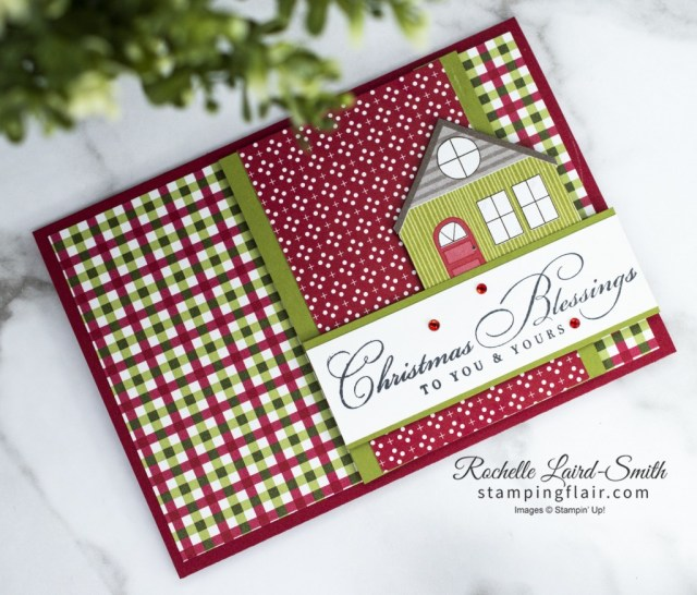 New at SU Blog Hop, December 2020, Wrapped in Christmas, Trimming the Town DSP,  Stampin Up!, SU, Christmas Blessings