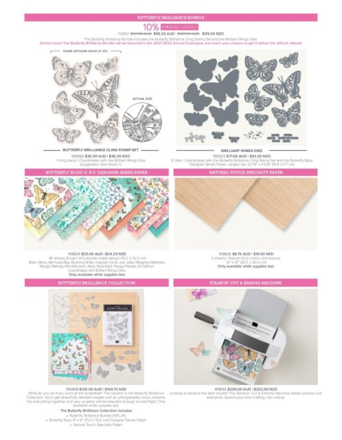 Butterfly Brilliance Collection Price List Flyer