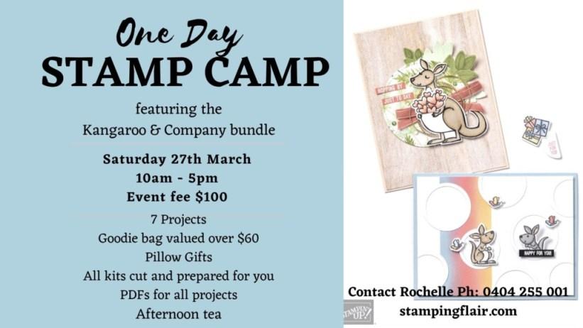 One Day Stamp Camp Ad, Kangaroo & Co