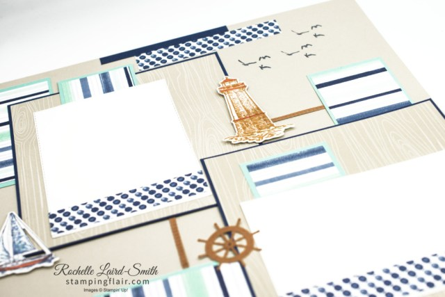 Ink & Share Scrapbook Blog Hop, March 2021, Marine, Masculine, Male, Sea, Sailing Home, Stampin' Up!, SU, Scrapbook Layout, Memory Kepping, Scrapbooking