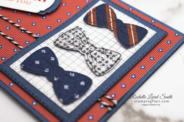 Stamping Inkspirations Blog Hop, April 2021, Well Suited bundle, Masculine, Male themed birthday card, Bow tie, Stampin' Up!, SU, Easy to make male DIY card