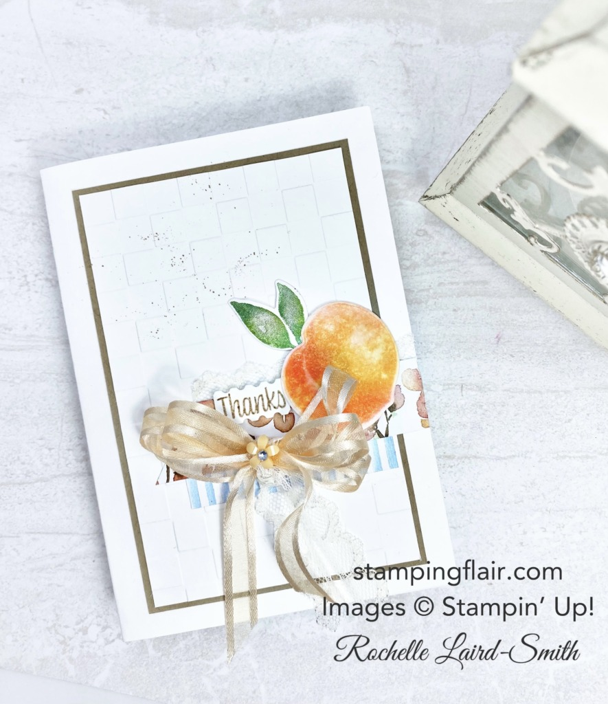 New at SU Blog Hop, You're a Peach Suite, Heat Embossing Technique, Orange Peel technique, Stampin' Up!, SU