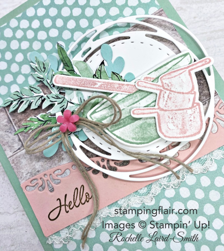 hello, baker, card, What's Cookin' Bundle, Stampin' Up!, SU, Stamping Flair, Rochelle Laird-Smith