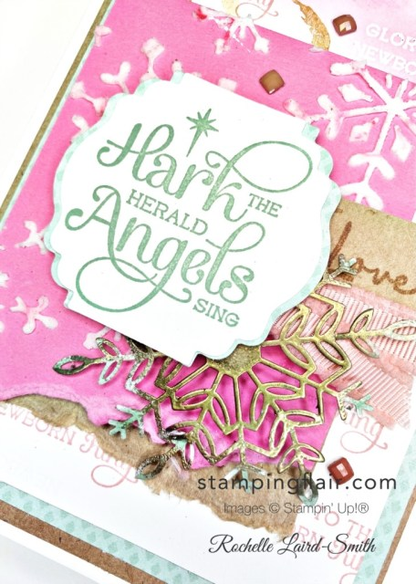 Stamping Inkspirations Blog Hop, August 2021, Whimsy & Wonder DSP, For Unto Us, Stamping Flair, Stampin' Up!, SU, Mixed Media card