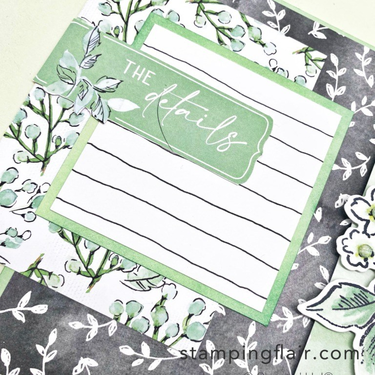 Ink & Share Scrapbook Blog Hop, August 2021, Beautifully Penned DSP, Hand Penned bundle, Scrapbook Page, Memories & More, Stampin' Up!, SU