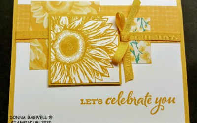 SUNFLOWER CARD IN BUMBLEBEE