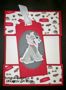 CUT AWAY CARD WITH PAMPERED PETS
