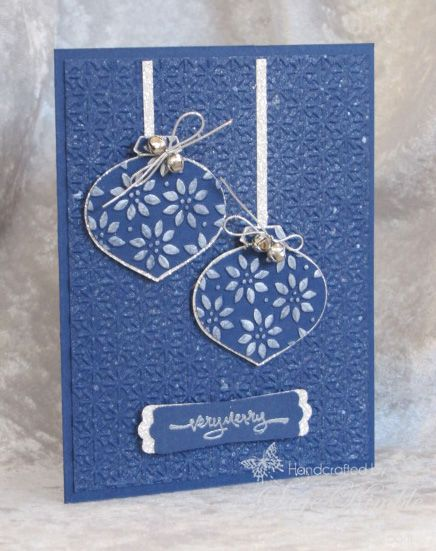 Handmade Christmas Card With Glimmer Shimmer And Spritz