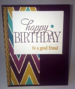 StampinUp birthday cards made with the Bohemian DSP, designed by demo Beth McCullough.  Please see more card and gift ideas at www.StampingMom.com #StampingMom