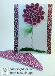 StampinUp All Occasion card made with the Flower Patch stamp set, designed by demo Beth McCullough.  Please see more card and gift ideas at www.StampingMom.com #StampingMom