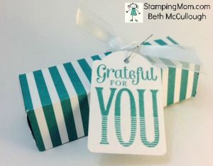 StampinUp Snickers box made with the Envelope punch board, designed by demo Beth McCullough.  Please see more card and gift ideas at www.StampingMom.com #StampingMom