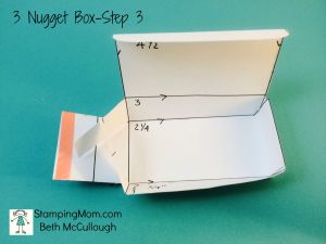 StampinUp 3 Nugget Box directions-Step 3 by Beth McCullough. Please see more card and gift ideas at www.StampingMom.com #StampingMom