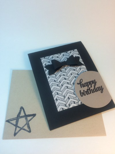 StampinUp masculine birthday card made with the Bow Builder punch, designed by demo Beth McCullough.  Please see more card and gift ideas at www.StampingMom.com