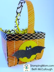 StampinUp Halloween Berry Basket designed by demo Beth McCullough.  Please see more card and gift ideas at www.StampingMom.com #StampingMom