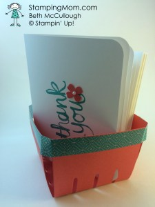 StampinUp Berry Basket designed by demo Beth McCullough.  Please see more card and gift ideas at www.StampingMom.com #StampingMom