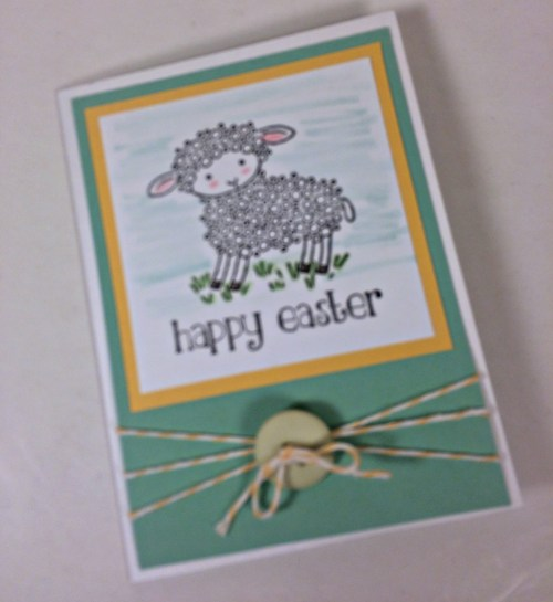 StampinUp Easter card made by Barb Sease. Please see more card and gift ideas at www.StampingMom.com #StampingMom