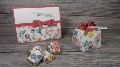 StampinUp Mother's Day Faceted Gift Box and card set made with the English Garden Designer Series Paper, designed by demo Beth McCullough. See more card and gift ideas at www.StampingMom.com #StampingMom