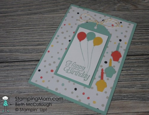 StampinUp birthday card made by my stamping friend Audrey McQuown.  Please see more card and gift ideas at www.StampingMom.com #StampingMom