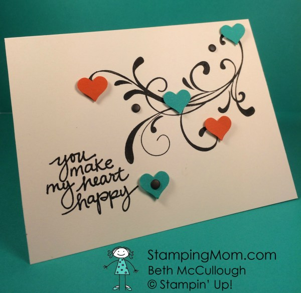 StampinUp love card made with the Everything Eleanor stamp set by demo Beth McCullough. Please see more card and gift ideas at www.StampingMom.com #StampingMom