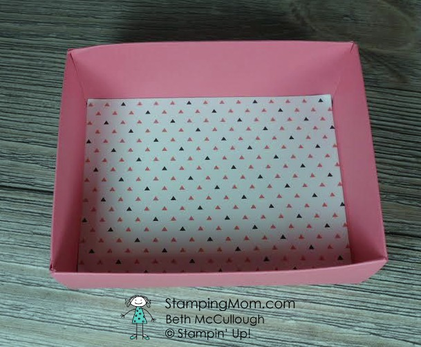 Kate Spade inspired Gift Boxes designed by StampinUp demo Beth McCullough. See more card and gift ideas at www.StampingMom.com #StampingMom